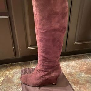 AUTHENTIC GUCCI KNEE HIGH SUEDE BROWN BOOTS 9.5M